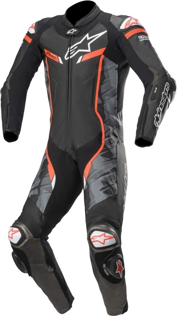Alpinestars GP PRO V2 Suit 1pc Tech Air Compatible 46, 994-BLACK CAMO RED FLUO
