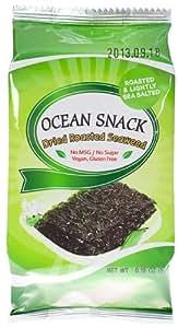 Ocean Snack Roasted Seaweed, 0.18-Ounce (Pack of 24)