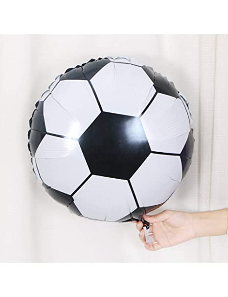 ZLJTT Globo de Aluminio de diseño de fútbol de 18 Pulgadas ...