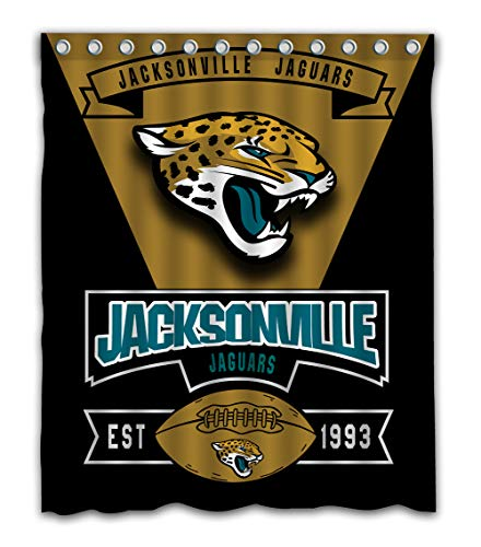 - Weckim Custom Jacksonville Football Team Waterproof Fabric Shower Curtain Colorful Design for Bathroom Decoration Size 60x72 Inches