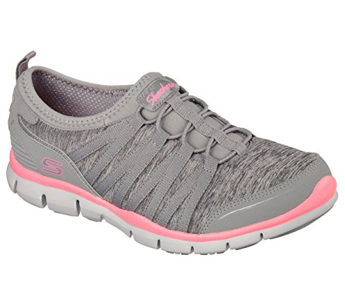 Skechers Gratis Shake It Off Womens Sneakers Gray/Pink 7.5 (Skechers Gratis In Motion)