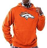 NFL Denver Broncos Men's Long Sleeve Tek Patch Hooded Fleece Pullover, XX-Large, Classic Orange