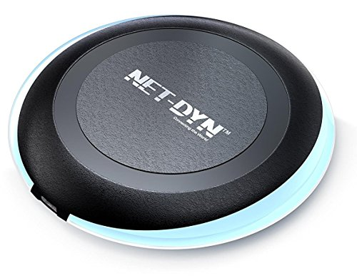 Wireless Charger Pad - Wireless Charger for iPhone X, Apple iPhone 8/8 Plus, Samsung Note 8, S8/S8 Plus/S7/S7 Edge/S6, Nexus 7/6/5/4, Nokia Lumia 920, LG Optimus Vu2, and More, by NET-DYN