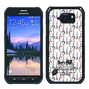 Fashionable Samsung Galaxy S6 Active Screen Case ,Beautiful And Unique Designed Skin Case With Coach 13 Black Samsung Galaxy S6 Active Cover Case Great Quality Phone Case