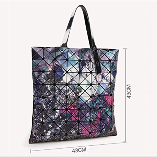 8 Bag Starry Coréen 8 À Mode Sky × Épaule Sac Minerai Pliant Big Géométrique Diamant Lingge 1 Pack Main rrxRZFYwqT