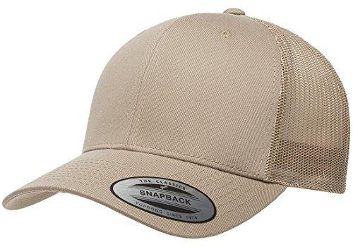Flexfit/Yupoong 6606,6606T Retro Trucker Hat (Khaki) (Hat Mesh Beige)