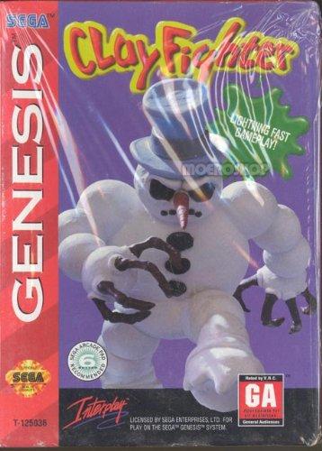 Clay fighter Sega Genesis product image