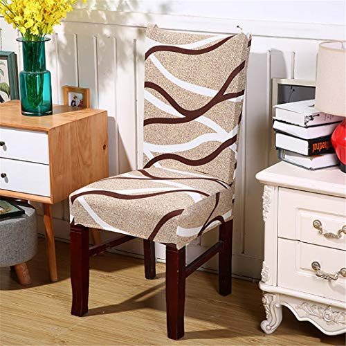 Geometry Elastic Printing Dining Chair Cover Anti-Dirty Kitchen Seat Case Stretch Dining Chair Slipcover for Color 5 Universal