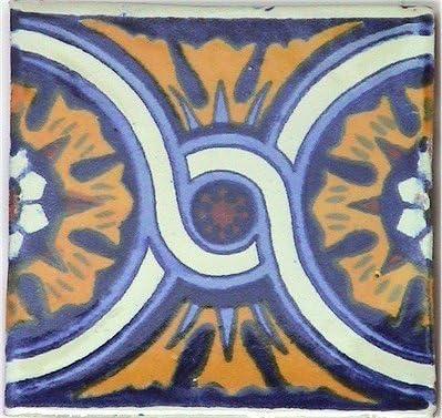 Fine Crafts Imports 6x6 4 pcs Montijo Talavera Mexican Tile