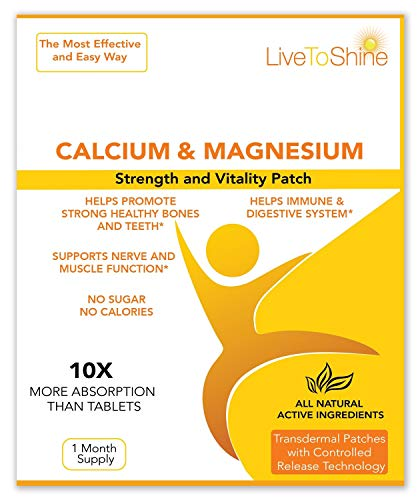 High Absorption Womens Menopause Patch - All Natural Calcium Magnesium - USA Made