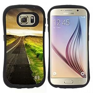 """Pulsar iFace Series Tpu silicona Carcasa Funda Case para Samsung Galaxy S6 , Vaciar conducción Hope Coches Libertad"""""""
