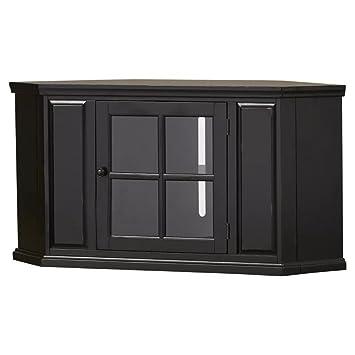 Amazon Com Benson Corner 47 Tv Stand Tv Unit Furniture Black Rub