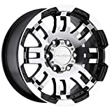 toyota tacoma rims and tires - Vision Warrior 375 Gloss Black Machined Face Wheel (16x8