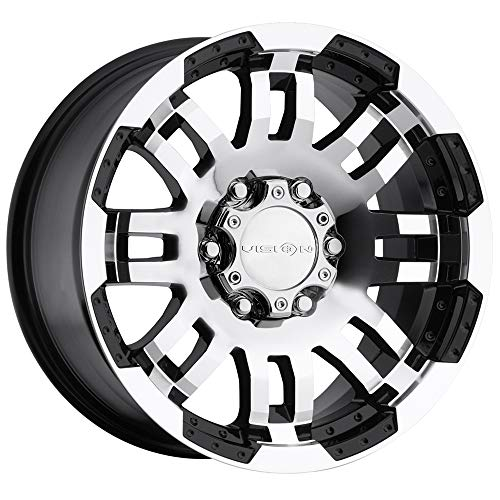 Vision Warrior 375 Gloss Black Machined Face Wheel
