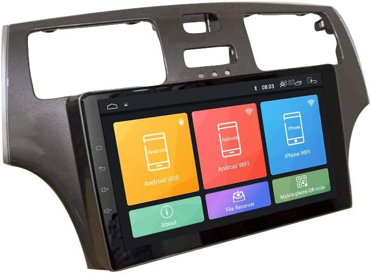 ZERTRAN Estéreo De Automóvil Reproductor Multimedia DVD Android 9.1 Octa Core Ocho Núcleos RAM 4G ROM 64G Navegacion GPS por Lexus ES 2001 2002 2003 2004 2005