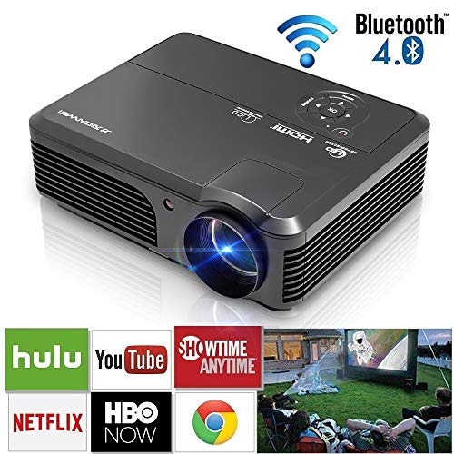 LED LCD Proyector Bluetooth Inalambrico HD HDMI Airplay Android ...