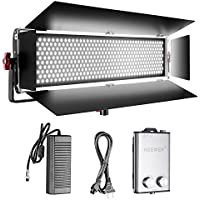 Neewer Dimmable Bi-color SMD LED with U Bracket and Barndoor Professional Video Light for Studio,YouTube, Product Photography,Video Shooting, Durable Metal Frame,800 LED Beads, 200W,3200-5600K,CRI 95+