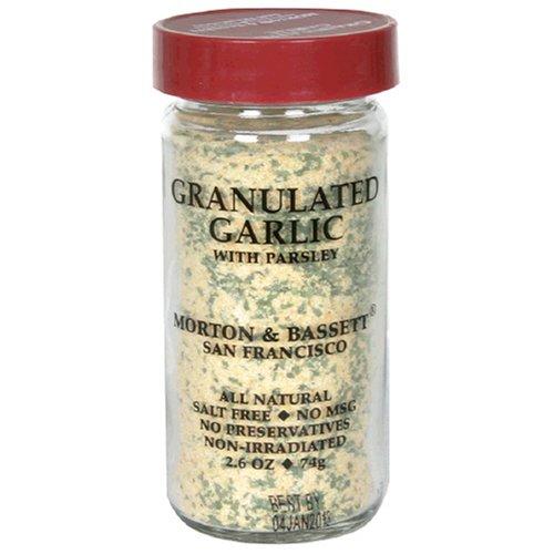 Morton & Bassett Granulated Garlic, 2.6-Ounce Jars (Pack of 3) by Morton & Bassett