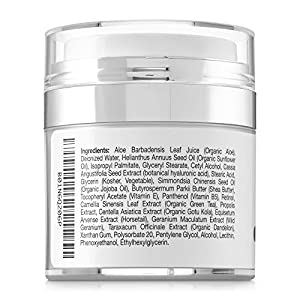 Best Retinol Anti Aging Anti Wrinkle For Face Cream Moisturizer by Illustra Skin Care – Organic Hyaluronic Acid, Natural Green Tea, Jojoba Oil, Shea Butter - Moisturizes & Hydrates Dry Skin