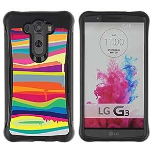 Suave TPU GEL Carcasa Funda Silicona Blando Estuche Caso de protección (para) LG G3 / CECELL Phone case / / Melting Colors Modern Art Painting /