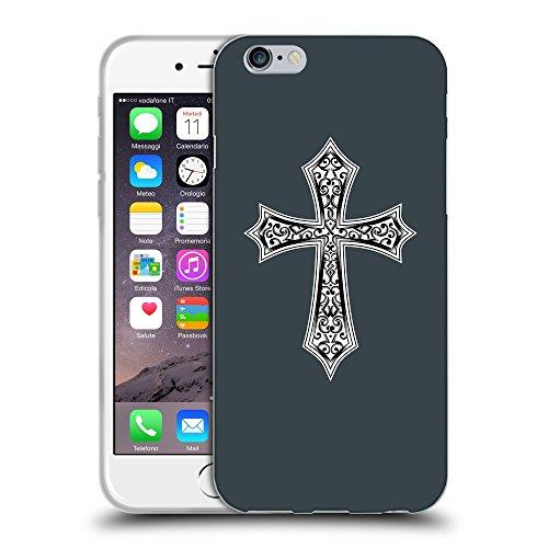 GoGoMobile Coque de Protection TPU Silicone Case pour // Q09190606 Croix chrétienne 29 Arsenic // Apple iPhone 7