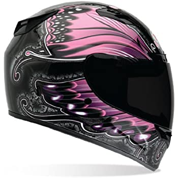 Bell Vortex Monarch Full Face Motorcycle Helmet - Black/Pink, X-Large