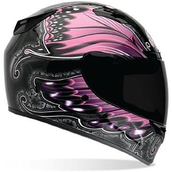 Bell Vortex Monarch Full Face Motorcycle Helmet - Black/Pink, X-Large