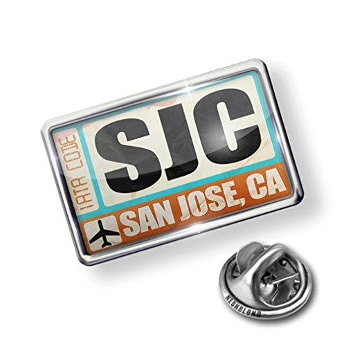 nice Pin Airportcode SJC San Jose, CA - Lapel Badge - NEONBLOND free shipping