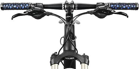 ROCKBROS Puños de Bicicleta Manillar con Doble Bloqueo Antideslizante Ultraligero Suave de Goma para MTB Bici de Carretera 2,22 cm: Amazon.es: Deportes y aire libre