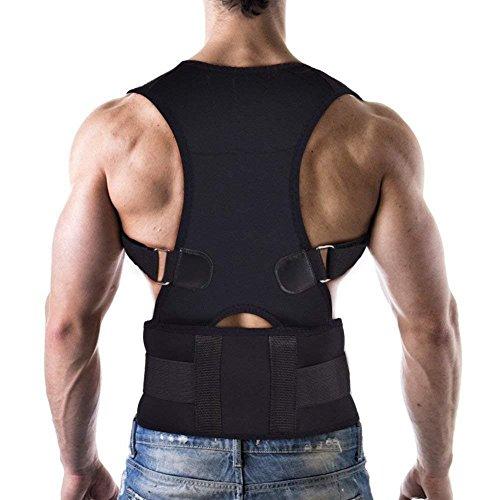 Corrector de Postura con Soporte Recto Ultrafino Respirable Vendaje de elástico en la Cintura del Hombro para Hombres y...