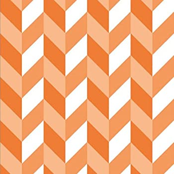 Magic Cover Adhesive Vinyl Contact Paper for Shelf Liner, Drawer Liner and Arts and Crafts Projects - 18 inches by 9 feet per roll, Westwood Orange Pattern