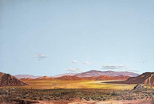 (Walthers, Inc. Instant Horizons Saguaro Desert Background Scene, 24 X 36 60 x 90cm )