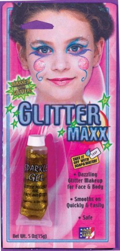 Glitter Maxx Makeup for Face and Body - Gold by Fun -