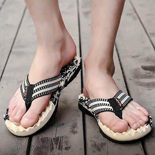 XIAOLIN Zapatillas de marea de verano marea para hombre Sandalias y zapatillas Zapatillas de deporte antideslizantes y antideslizantes para exteriores Pinch Beach Summer Zapatillas de hombre (varios c 07