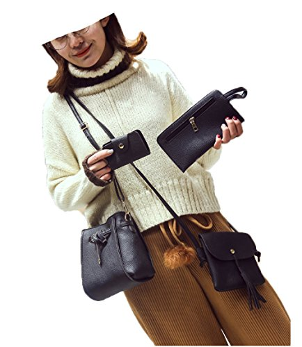 Women's Small Phone 4 Mobile Bucket Four Bag Shoulder Sets Tassel Bag Messenger Bag Mother New Purse wEnPOqn4
