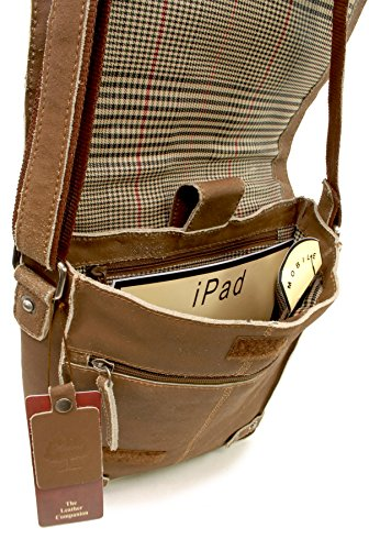 Ashwood In Marrone Chiaro Organiser Pelle Notebook Borsa ipad Messenger 8342 gqOYPfw5