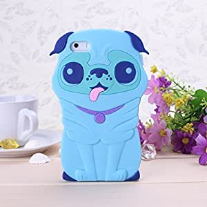 WkaeCase For Samsung Note 4 Cover Case 3D Catoon Dog Puppy Shape By Diebell (Blue)