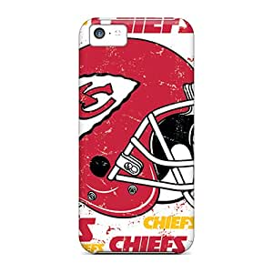 Anti-Scratch Hard Phone Cases For Iphone 5c With Unique Design Realistic Kansas City Chiefs Pictures KimberleyBoyes