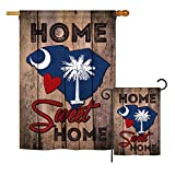 Ornament Collection S191142-BO State South Carolina Home Sweet Home Americana States Impressions Decorative Vertical House 28″ X 40″ Garden 13″ X 18.5″ Double Sided Flags Set Printed In USA MultiColor For Sale