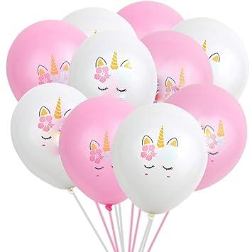 Mattelsen Globos Unicornio Flor Globos Lunares Balloons ...