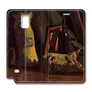 Vincent Van Gogh Design Leather Case for Samsung Note 4 Wine wangjiang maoyi
