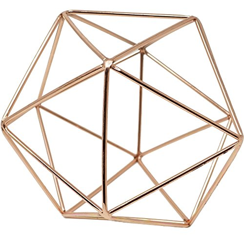 3D Geometric Himmeli Centerpiece & Hanging Ornament, Chrome Plated...