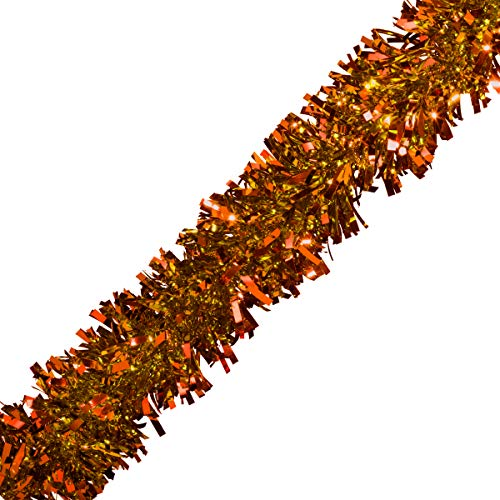 "Orange Metallic Twist Garland - 4"" x 25"