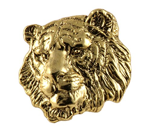 Pin Wildlife (Creative Pewter Designs, Pewter Tiger Handcrafted Wildlife Lapel Pin Brooch, 24k Gold Plated, MG108)
