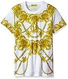 Versace Jeans Men's Gold Chain Print T-Shirt, Bianco, Large