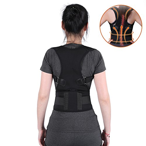 Lumbar Back Brace Posture Corrector Belt, Prevents Slouching Sit Work, Lower and Upper Adjustable Support Band Relieve Neck Spine Pain Thoracic Pressure (XL) (Neck Prevent)