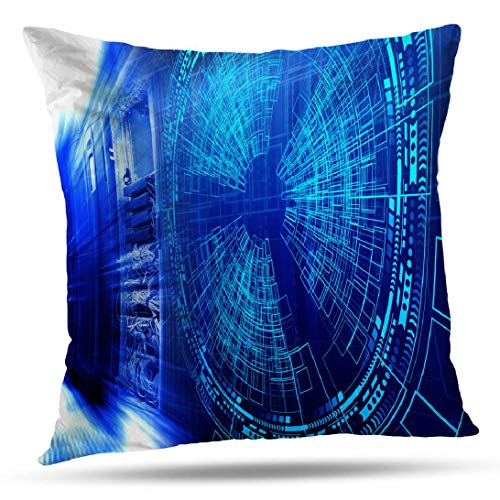Kutita Modern Decorative Pillow Covers, Modern Network and Internet Telecommunication Technology Data Storage Throw Pillow Decor Bedroom Livingroom Sofa 18X18 - Network Infrastructure Package