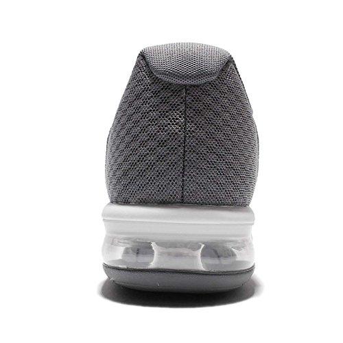 Nike Air Max aufeinanderfolgend 2 Herren Laufschuhe 852461 Turnschuhe cool grau / metallisch silber