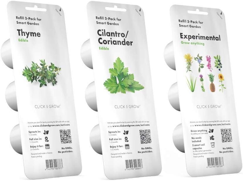Click & Grow Starter Pack - Conjunto de 3 paquetes de cápsulas ...
