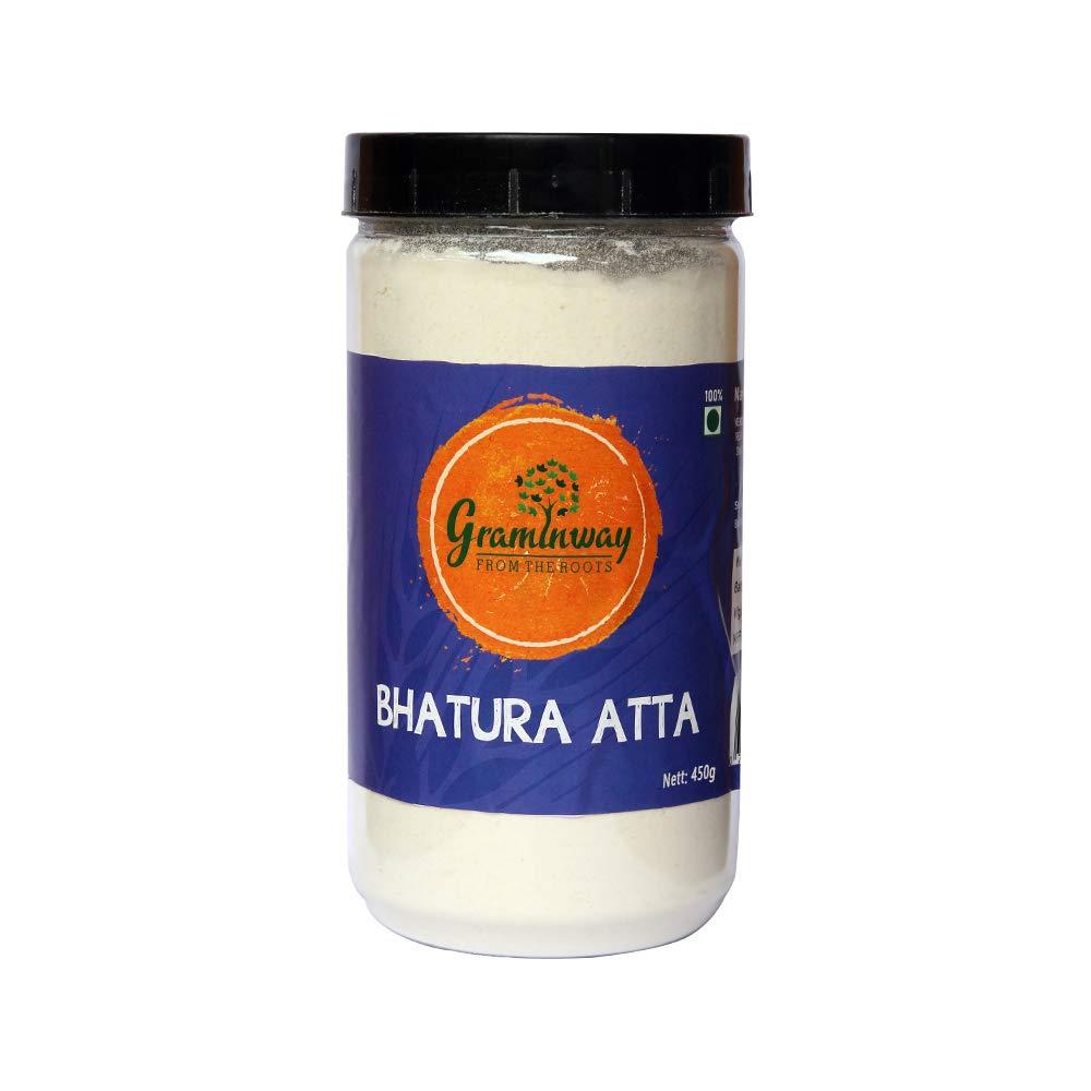 Graminway Bhatura Atta, Whole Grain Healthy Flour, 450 Gm (15.87 OZ)